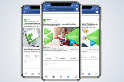 Kampania reklamowa Facebook Ads dla HRLink