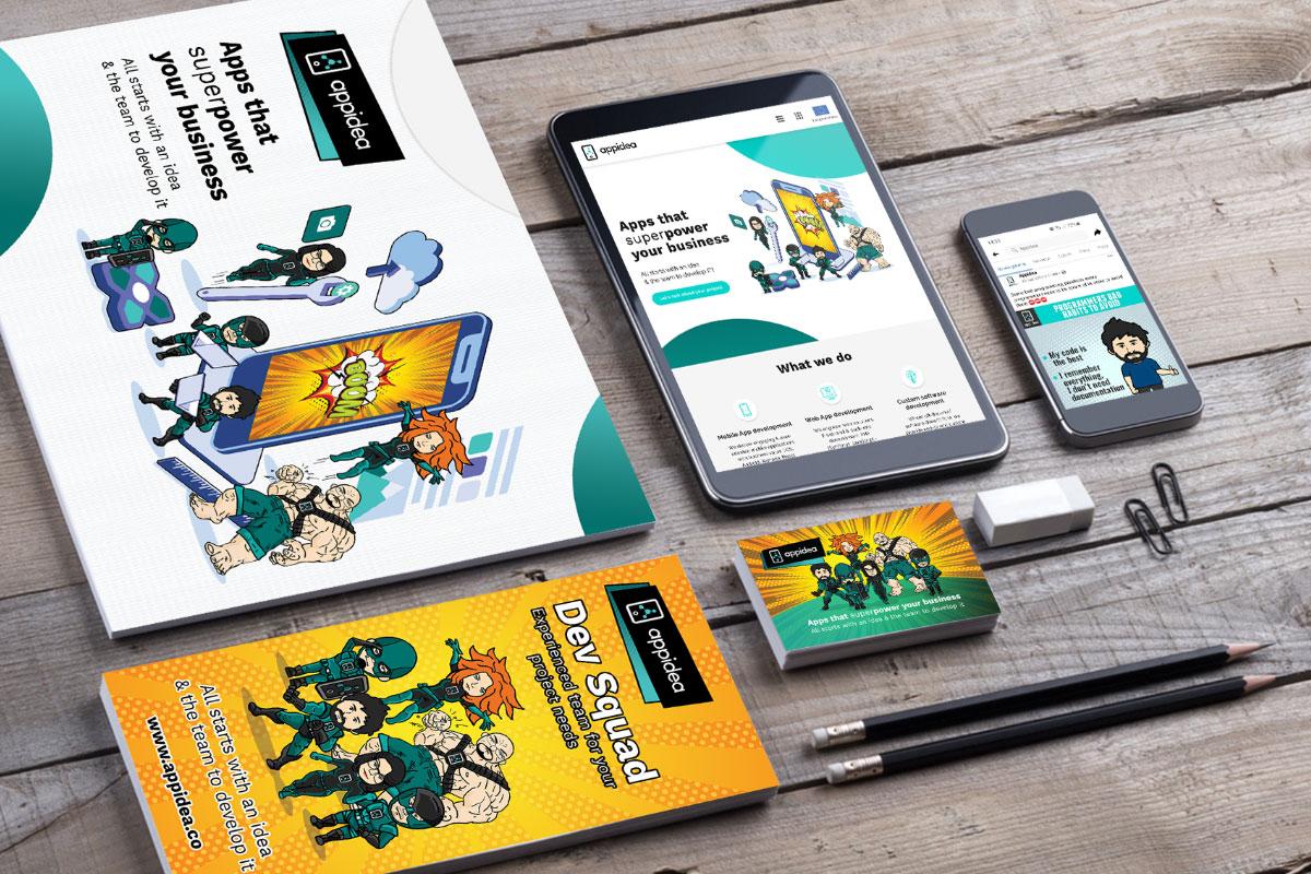 Social media, content marketing + materiały reklamowe - Appidea